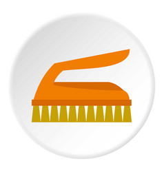 cleaning brush icon circle vector image