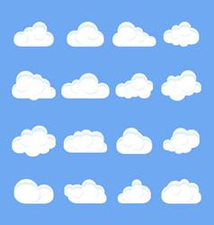 cloud cartoon set different cartoon clouds vector image