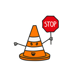 construction traffic cone vector image