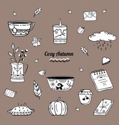 cozy autumn vector image