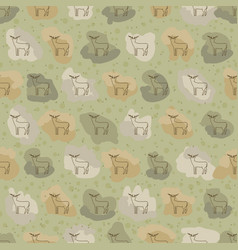 deer abb or warp for textile vector image