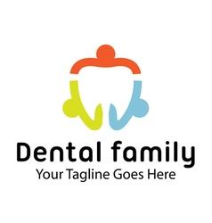 Dental Family Design vector image