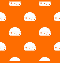 Dutch cheese pattern seamless vector
