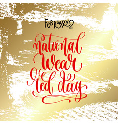 February - national wear red day - hand vector