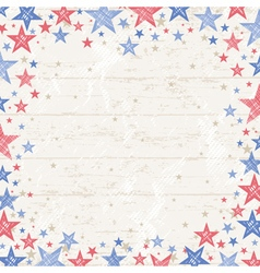 Frame of grunge usa background vector image