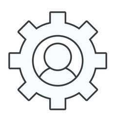 gears support user cartoon vector image
