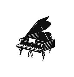 grand piano symbol or logo music concept vector image