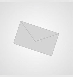 Gray letter flat icon vector