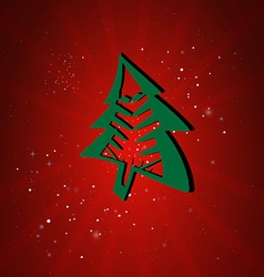 Happy New Year Card Cristmas tree vector image