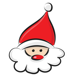 Head santa claus or color vector