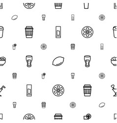 Juice icons pattern seamless white background vector