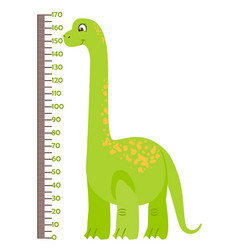 Kids height chart with vector