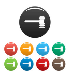 Legislation icons set color vector