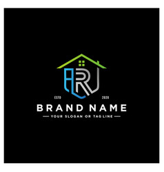 Letter ar home logo design vector