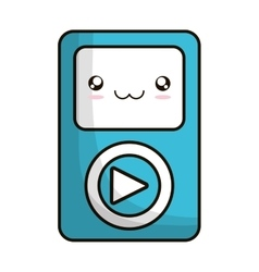 Media player portable isolated icon vector