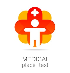 Medical cross template logo vector