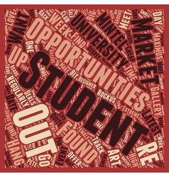 Meet The Students text background wordcloud vector