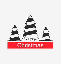 merry christmas festive background with christmas vector image
