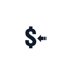 money transfer icon symbol currency exchange vector image