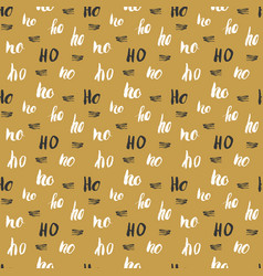 new year and christmas seamless pattern with ho vector image