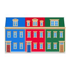 Newfoundland colourful row houses vector