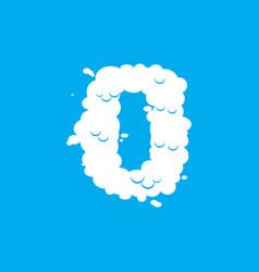 number 0 cloud font symbol white alphabet sign vector image