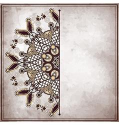 Pattern on old paper vintage background vector