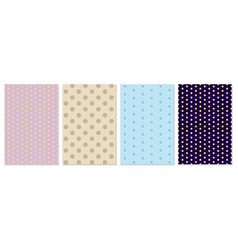 polka dot pattern baby background vector image