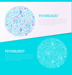 Psychologist concept in circle vector