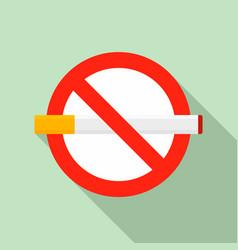 public no smoking icon flat style vector image