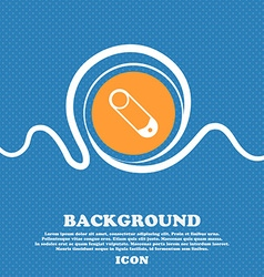 Pushpin icon sign Blue and white abstract vector image