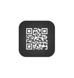 qr code sign creative app scan code symbol round vector image