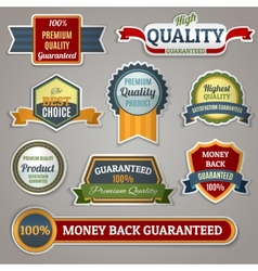 Quality labels stickers vector image