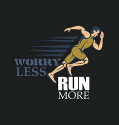 Run creative sport running motivation vector
