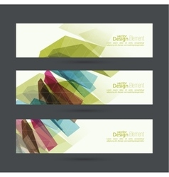 Set of abstract banners header vector