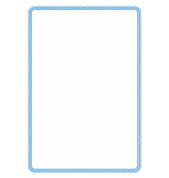 Simple blue frame border with protective mesh for vector