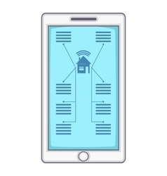 Smart home device icon cartoon style vector