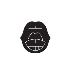 sore throat black concept icon sore throat vector image