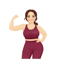 strong sport woman vector image