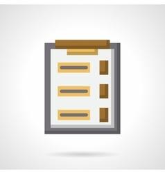 Survey clipboard flat color icon vector