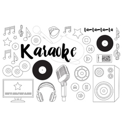 Theme karaoke vector