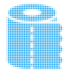 toilet paper roll halftone icon vector image