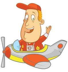 tourist flight plane vector image