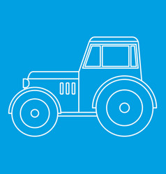 Tractor icon outline vector