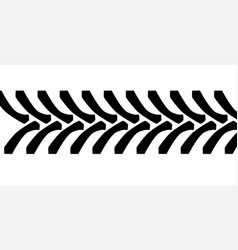 Tractor tyre tread marks vector