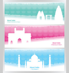 travel to india travel banners about india vector image