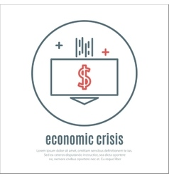 icon on a theme of economic crisis vector image vector image