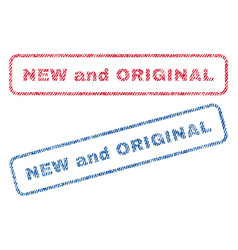 new and original textile stamps vector image