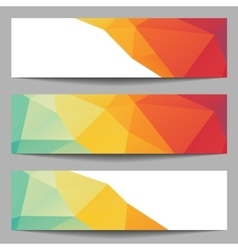 Set of abstract banners from polygons vector image vector image
