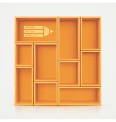 Shelves for Design vector image vector image